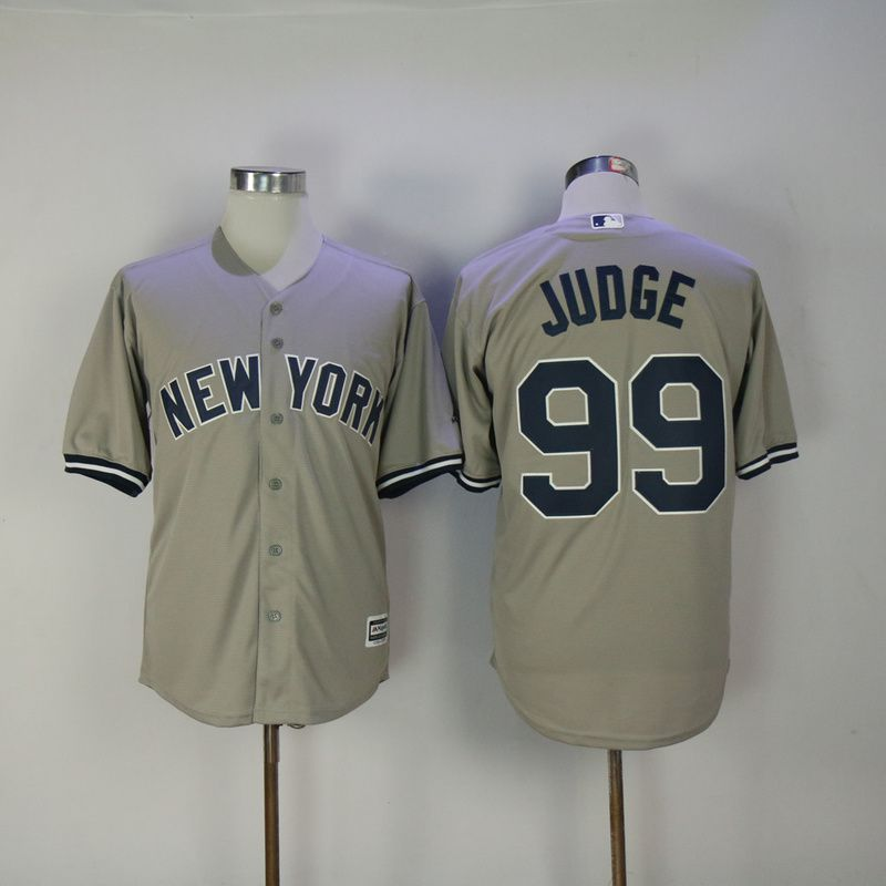 Men 2017 MLB New York Yankees 99 Judge Grey Game Jerseys