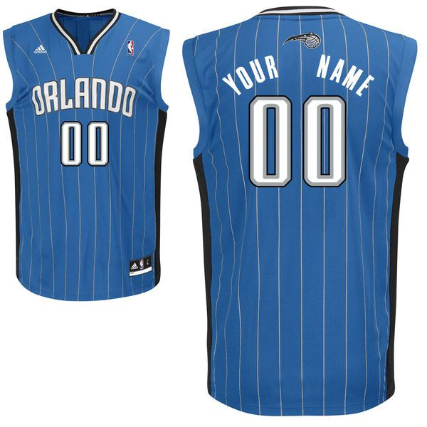 Men Adidas Orlando Magic Custom Replica Road Royal NBA Jersey