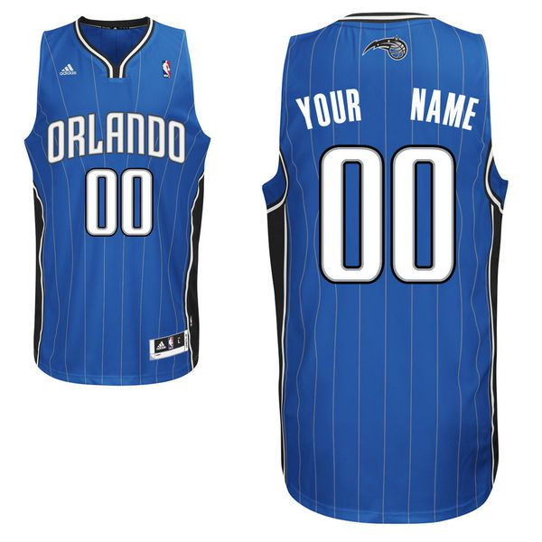 Men Adidas Orlando Magic Custom Swingman Road Royal NBA Jersey