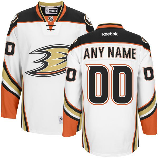 Men Anaheim Ducks NHL Men Premier Custom Jersey - White