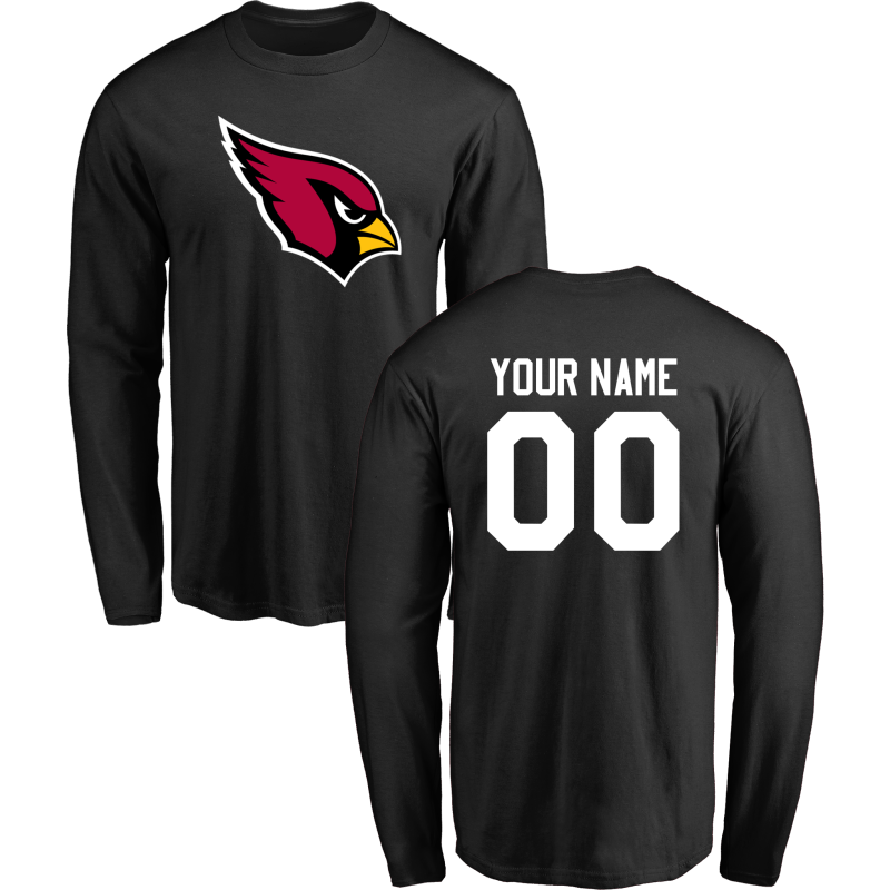 Men Arizona Cardinals NFL Design-Your-Own Long Sleeve T-Shirt