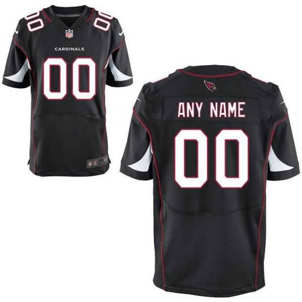 Men Arizona Cardinals Nike Black Custom Elite NFL Jersey