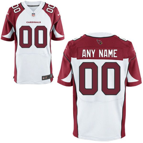 Men Arizona Cardinals White Custom Elite NFL Jersey
