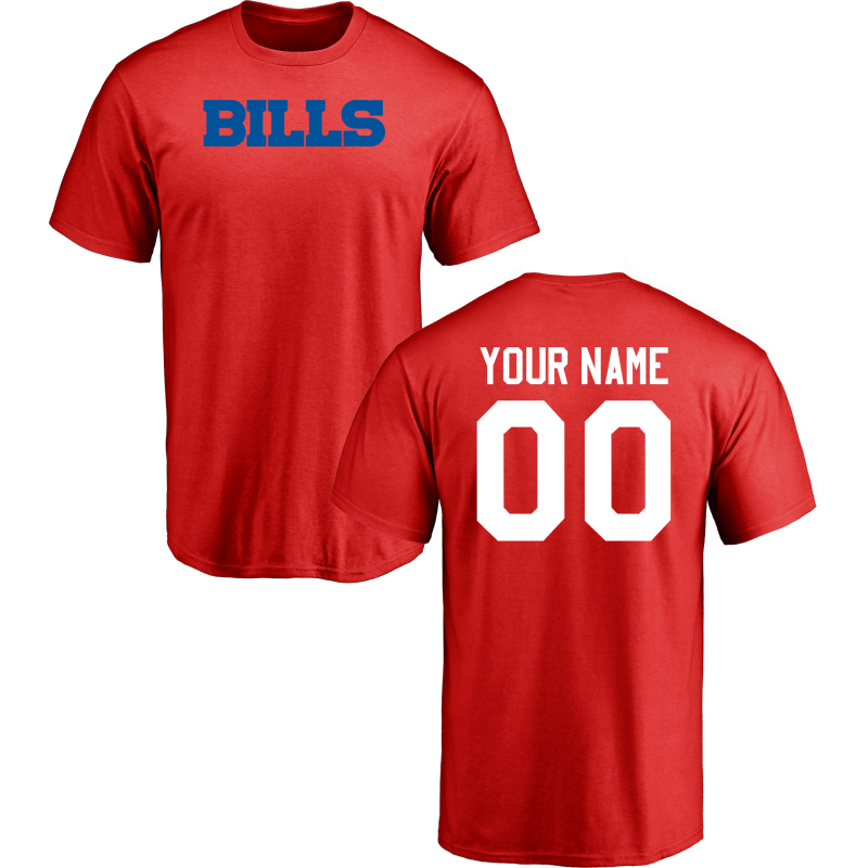 Men Buffalo Bills Design-Your-Own Short Sleeve Custom NFL T-Shirt