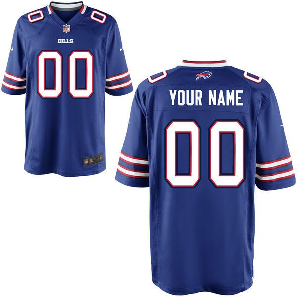 Men Buffalo Bills Nike Royal Blue Custom Game NFL Jersey