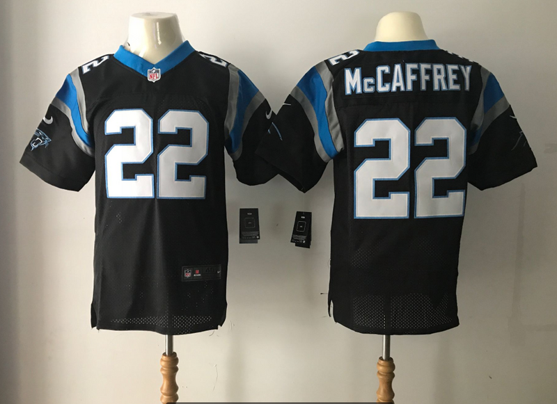 Men Carolina Panthers 22 Mccaffrey Black Nike Elite NFL Jersey