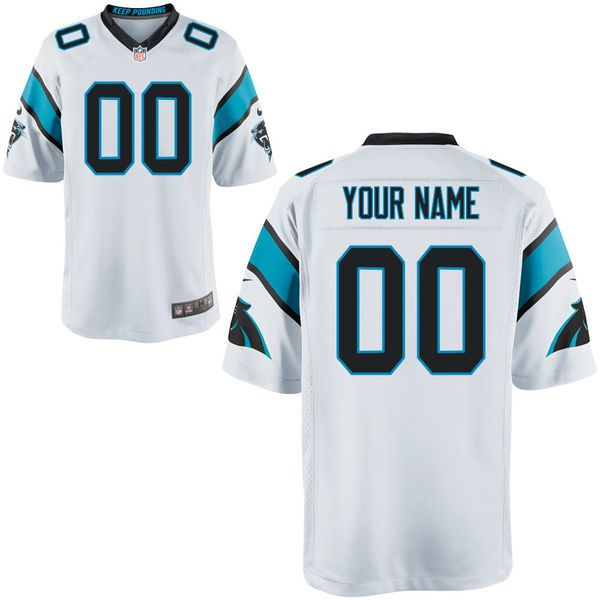 Men Carolina Panthers Custom Game White NFL Jersey
