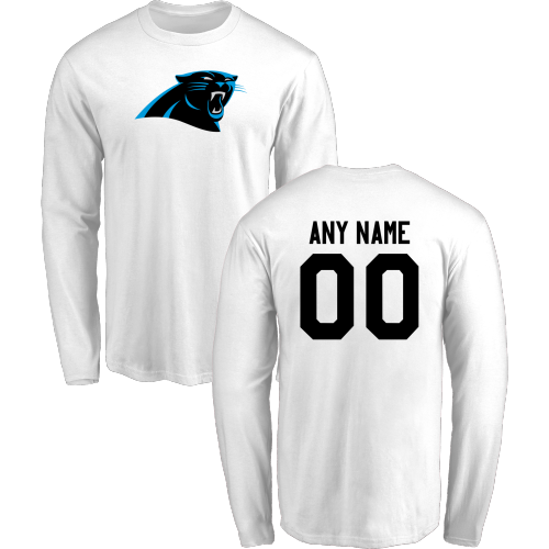 Men Carolina Panthers Design-Your-Own Long Sleeve Custom NFL T-Shirt