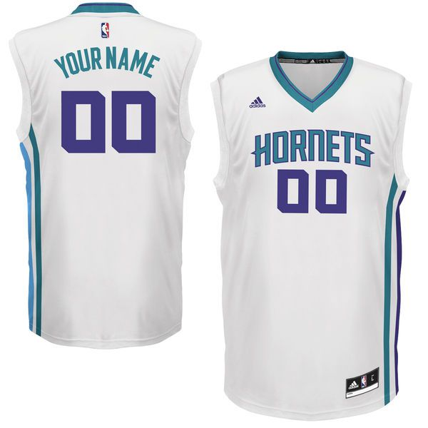 Men Charlotte Hornets Adidas White Custom Replica Basketball NBA Jersey