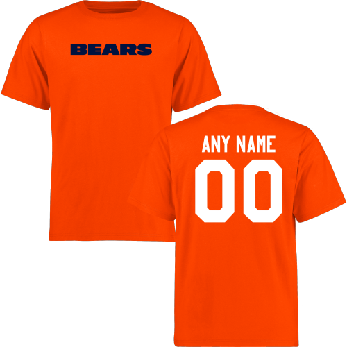 Men Chicago Bears Design-Your-Own Short Sleeve Custom NFL T-Shirt