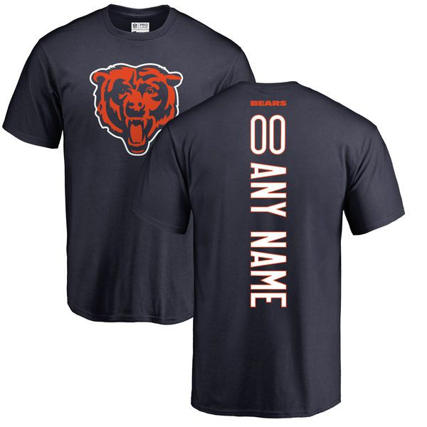 Men Chicago Bears NFL Pro Line Navy Custom Backer T-Shirt