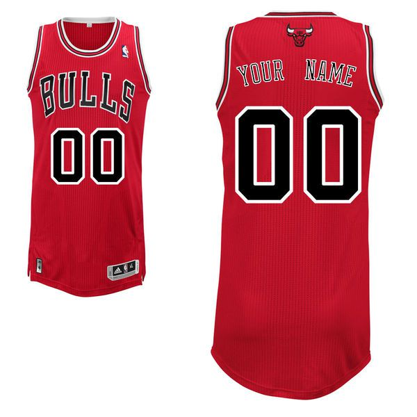 Men Chicago Bulls Red Custom Authentic NBA Jersey