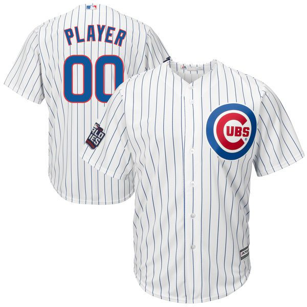 Men Chicago Cubs Majestic White 2016 World Series Bound Home Custom Cool Base Team MLB Jersey