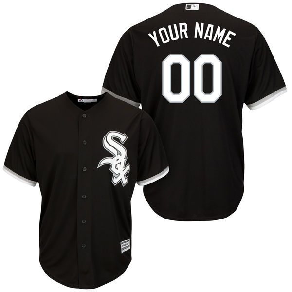 Men Chicago White Sox Majestic Black Alternate Cool Base Custom MLB Jersey
