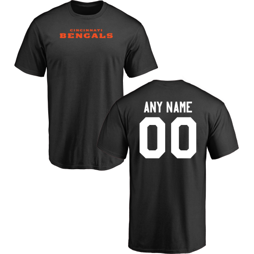 Men Cincinnati Bengals Design-Your-Own Short Sleeve Custom NFL T-Shirt