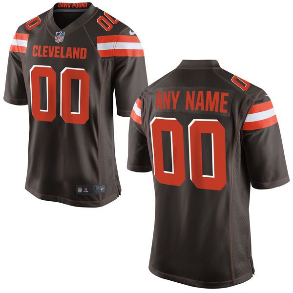 Men Cleveland Browns Nike Brown Customized NFL Game Jersey