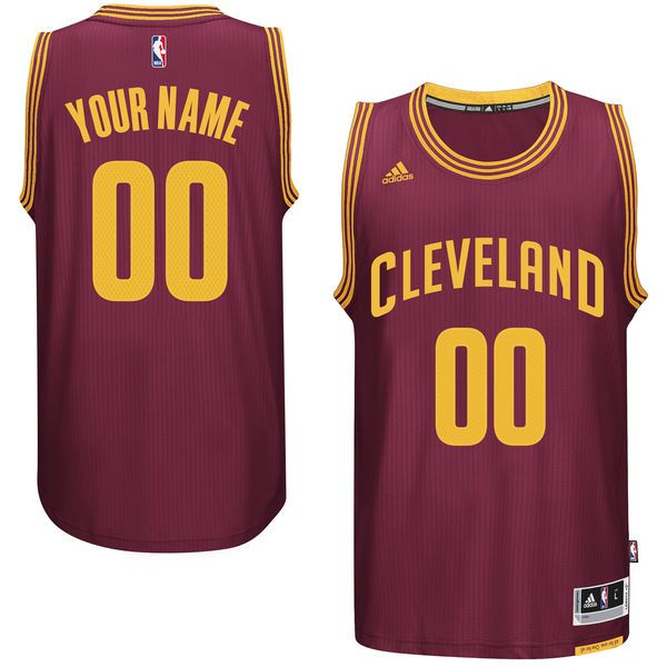 Men Cleveland Cavaliers Adidas Burgundy Custom Swingman Road NBA Jersey