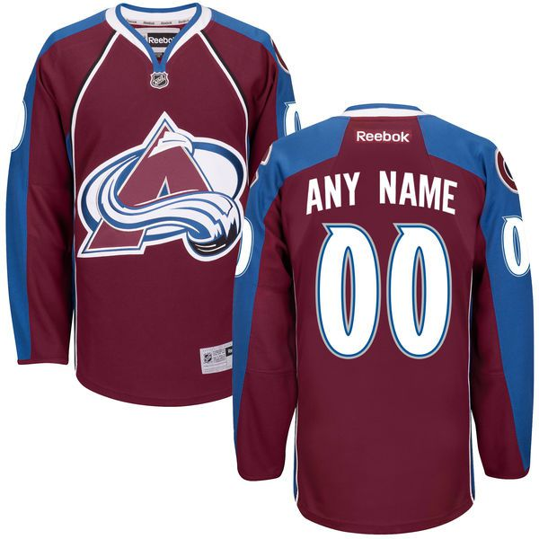 Men Colorado Avalanche Reebok Maroon Custom Home Premier NHL Jersey