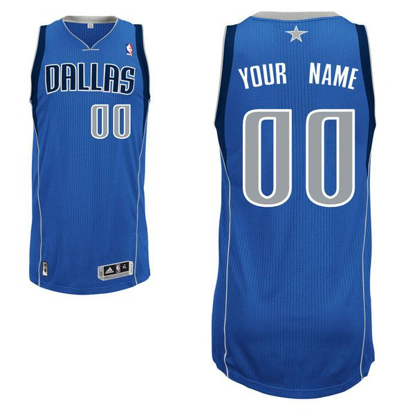 Men Dallas Mavericks Blue Custom Authentic NBA Jersey
