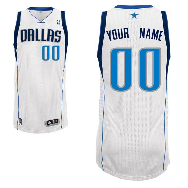 Men Dallas Mavericks White Custom Authentic NBA Jersey