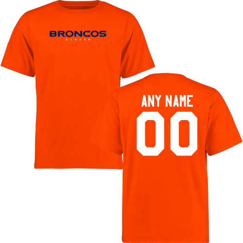 Men Denver Broncos Design-Your-Own Short Sleeve Custom NFL T-Shirt