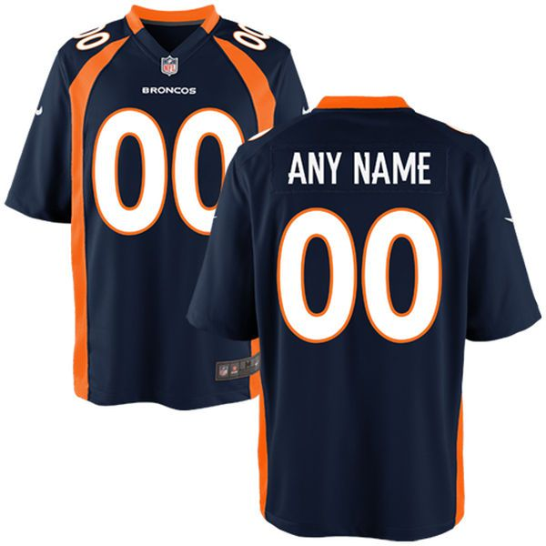 Men Denver Broncos Nike Navy Blue Custom Alternate Game NFL Jersey