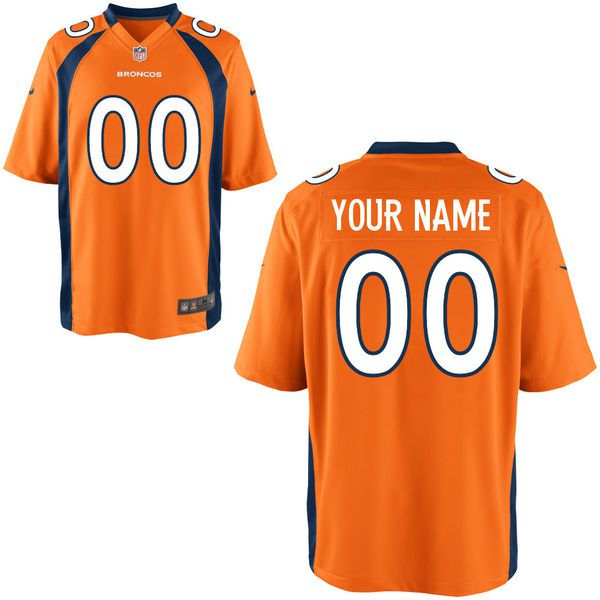Men Denver Broncos Nike Orange Custom Game NFL Jersey