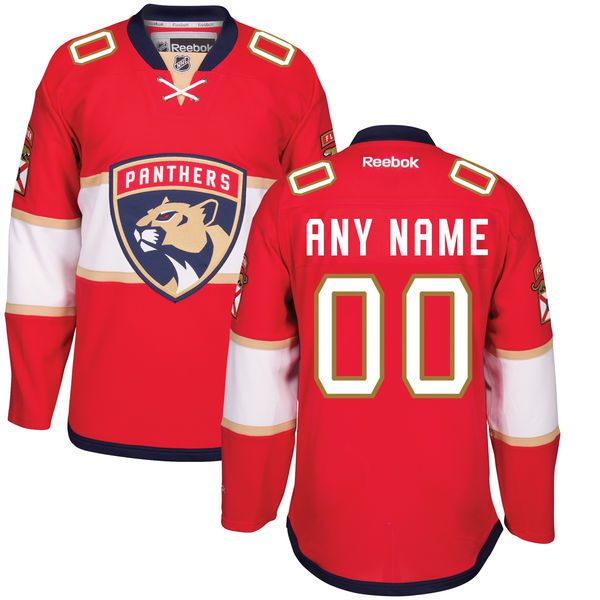 Men Florida Panthers Reebok Red Home Premier Custom NHL Jersey