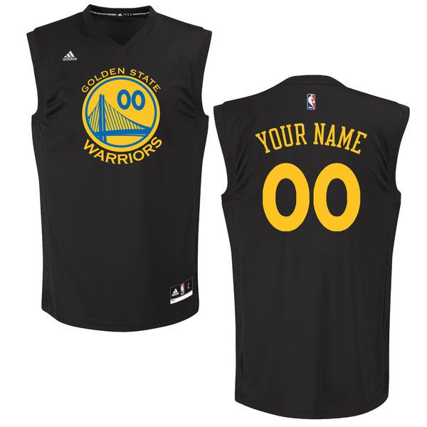 Men Golden State Warriors Adidas Black Custom Chase NBA Jersey