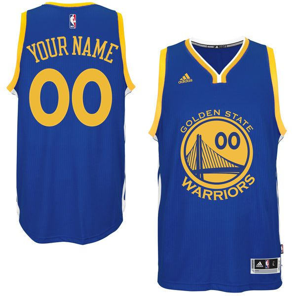 Men Golden State Warriors Adidas Royal Custom Swingman Road NBA Jersey