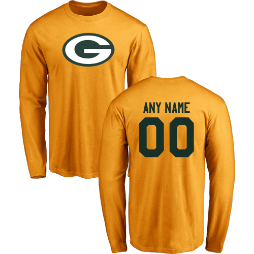 Men Green Bay Packers Design-Your-Own Long Sleeve Custom NFL T-Shirt