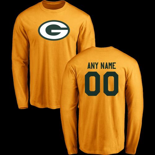 8d1157994 Men Green Bay Packers Design-Your-Own Long Sleeve Custom NFL T-Shirt