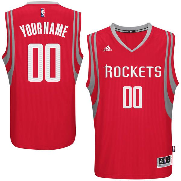 Men Houston Rockets Adidas Red Custom Swingman Road NBA Jersey