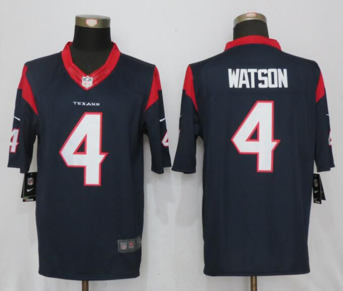 Men Houston Texans 4 Watson Blue New Nike Limited NFL Jersey
