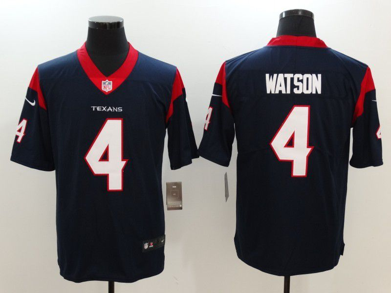 Men Houston Texans 4 Watson Blue Nike Vapor Untouchable Limited NFL Jersey