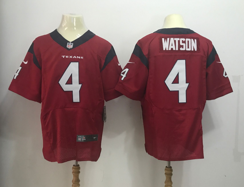 Men Houston Texans 4 Watson Red Nike Elite NFL Jersey