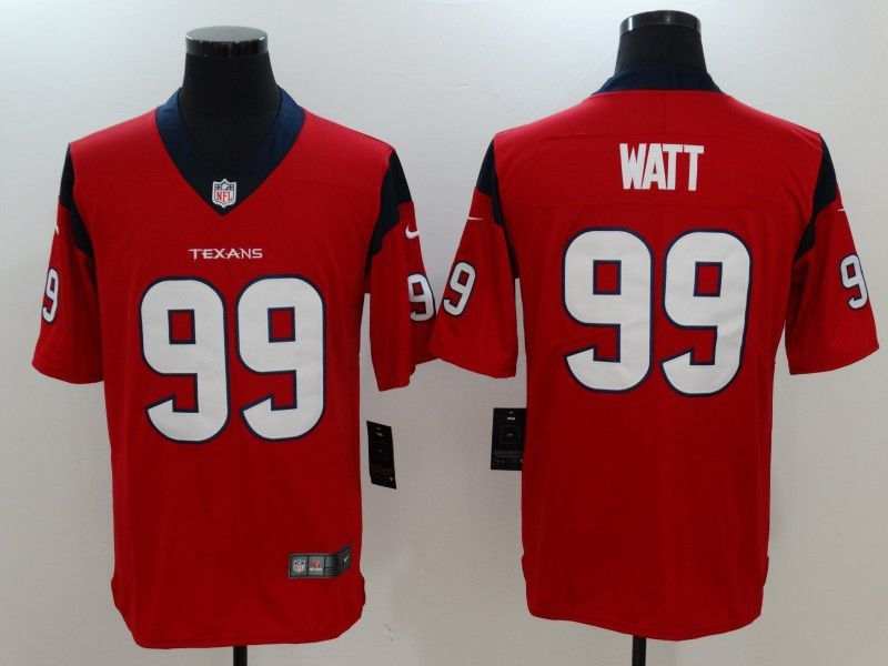 Men Houston Texans 99 Watt Red Nike Vapor Untouchable Limited NFL Jersey