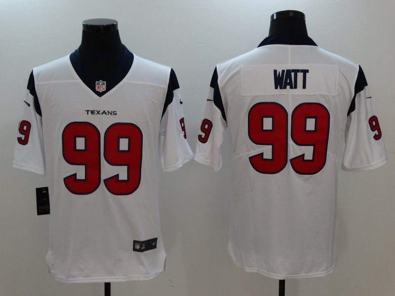 Men Houston Texans 99 Watt White Nike Vapor Untouchable Limited NFL Jersey