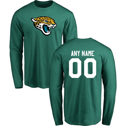 Men Jacksonville Jaguars Design-Your-Own Long Sleeve Custom NFL T-Shirt
