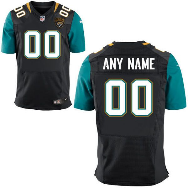 Men Jacksonville Jaguars Nike Black Custom Elite NFL Jersey