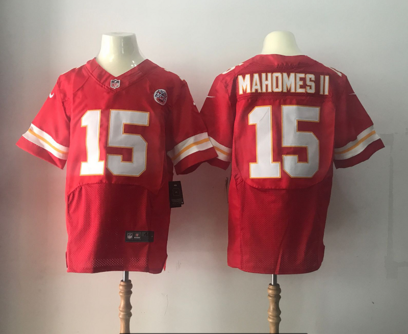 Men Kansas City Chiefs 15 Mahomes ii Red Elite Nike Elite NFL Jersey