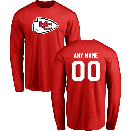 Men Kansas City Chiefs Design-Your-Own Long Sleeve Custom NFL T-Shirt