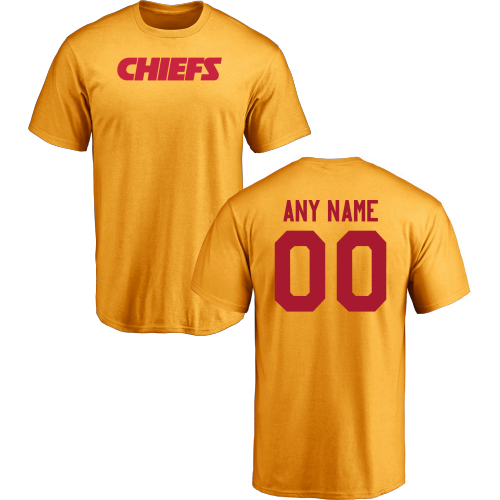 Men Kansas City Chiefs Design-Your-Own Short Sleeve Custom NFL T-Shirt