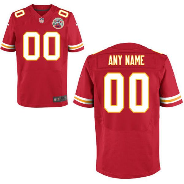 Men Kansas City Chiefs Nike Red Custom Elite NFL Jersey