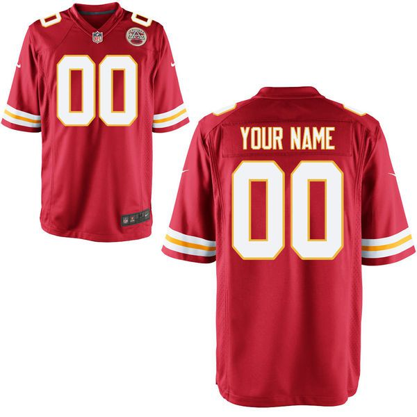 Men Kansas City Chiefs Nike Red Custom Game NFL Jersey
