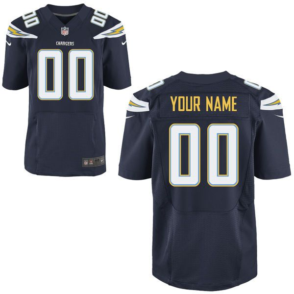 Men Los Angeles Chargers Nike Navy Blue Custom Elite NFL Jersey