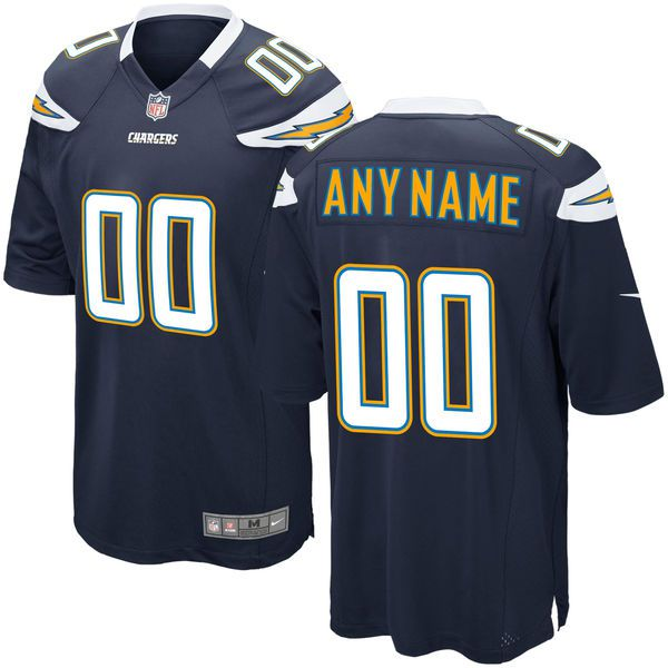 Men Los Angeles Chargers Nike Navy Blue Custom Game NFL Jersey
