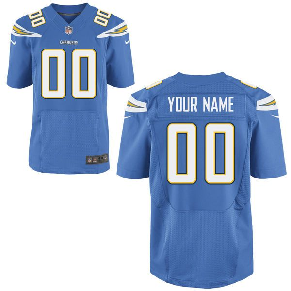 Men Los Angeles Chargers Nike Powder Blue Custom Elite NFL Jersey