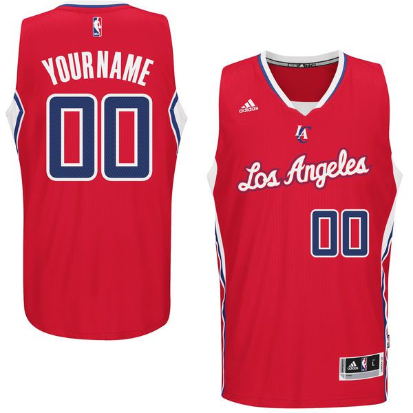 Men Los Angeles Clippers Adidas Red Custom Swingman Road NBA Jersey