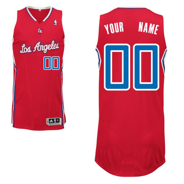 Men Los Angeles Clippers Red Custom Authentic NBA Jersey